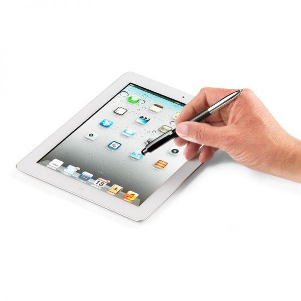 Писец за iPhone (iPad) / Метална химикалка TROIKA - FINE CARBON