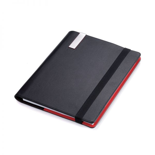 Кожена папка A4 с тефтер и химикалка TROIKA - RED PEPPER