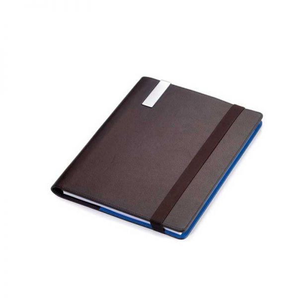 Кожена папка A4 с тефтер и химикалка TROIKA - BLUE CANYON