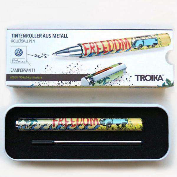 Метална ролер химикалка TROIKA  - CAMPERVAN T1