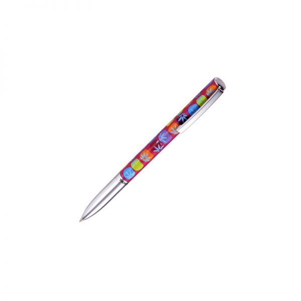 Метална химикалка TROIKA - WINDOW FLOWERS