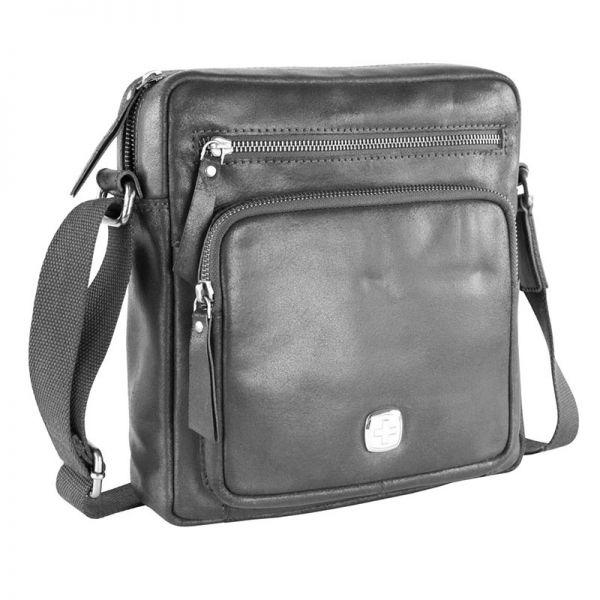 Кожена чанта Wenger CLOUDY, малка, черна