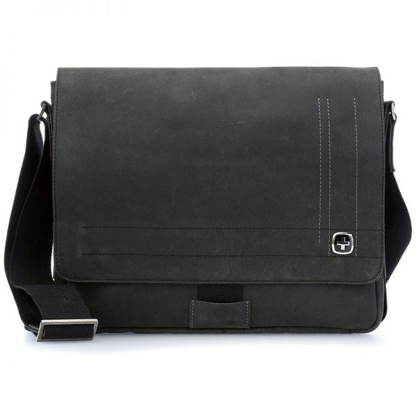 Кожена чанта Wenger SIERRA NEVADA, за таблет 11', черна
