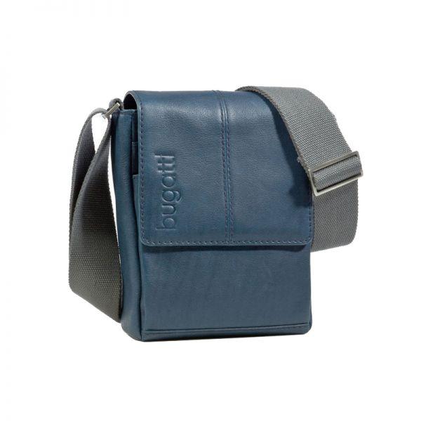 Кожена вертикална чанта за през рамо Bugatti John D.