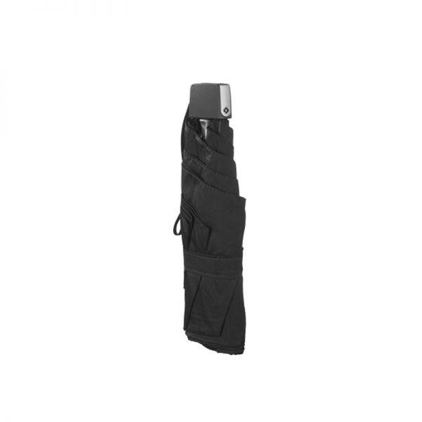 Петорно сгъваем ръчен чадър в металик черено
