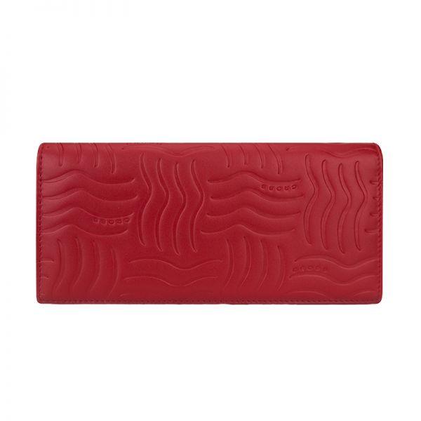Дамски портфейл от естествена кожа Cross Charol Napa Red
