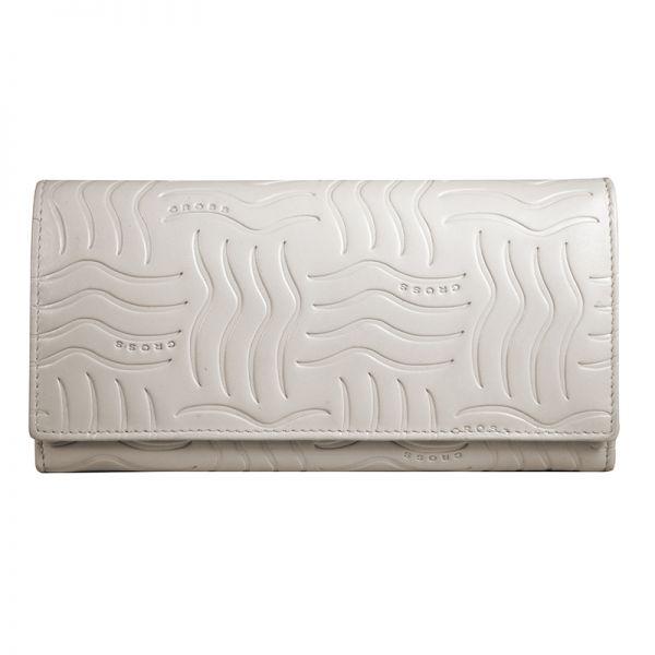 Дамски портфейл от естествена кожа Cross Charol Napa Ivory