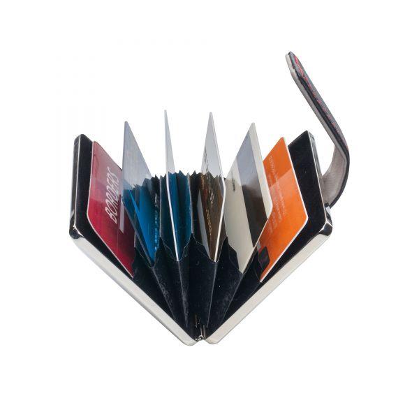 Органайзер за документи и кредитни карти Pierre Cardin, кожа и метал