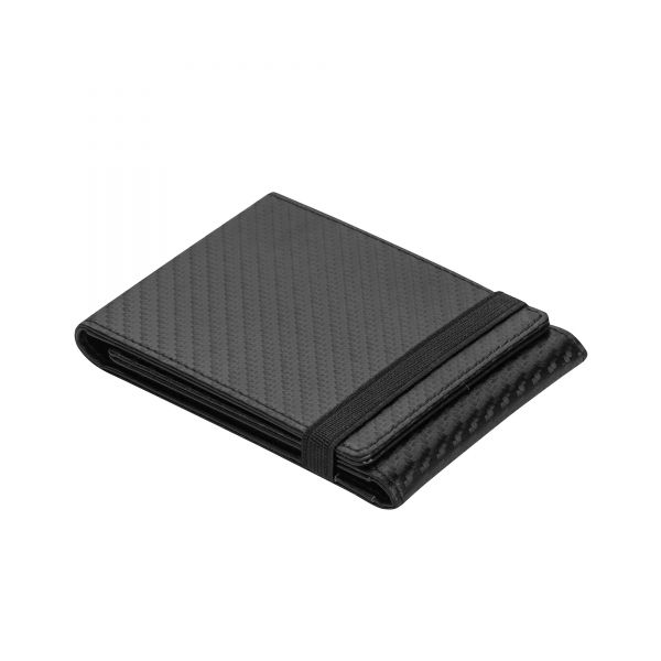 Визитник Pierre Cardin - Carbon, ластичен, черен