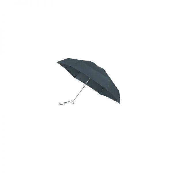 Петорно сгъваем петролено зелен ръчен мини-чадър