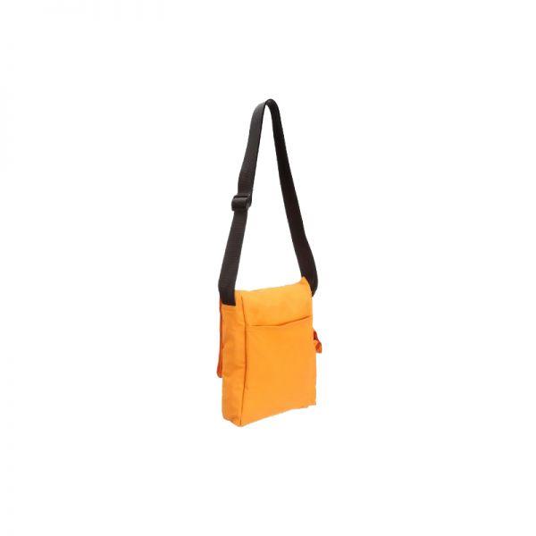 Олекотена удобна чантичка за рамо в оранжев цвят