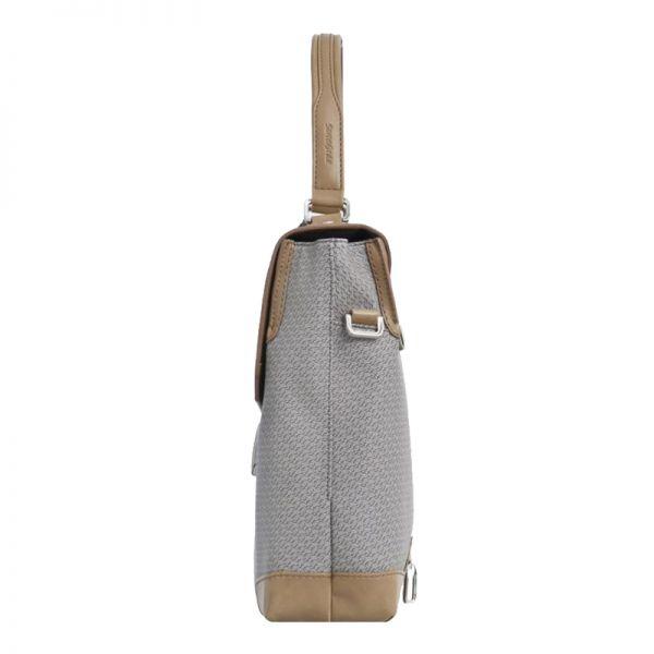 """Бизнес чанта с капак и елементи от кожа за 14.1"""" S-OULITE в сиво"""