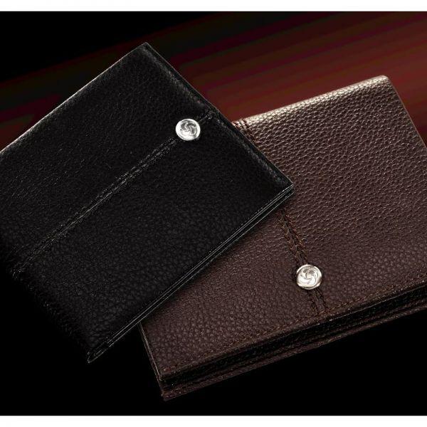 Стилен кафяв дамски портфейл от естествена кожа