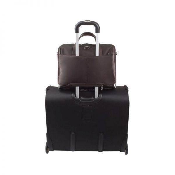 """Бизнес чанта с 3 отделения S-Oulite за 15,6"""" инча лаптоп тъмно кафяв цвят"""