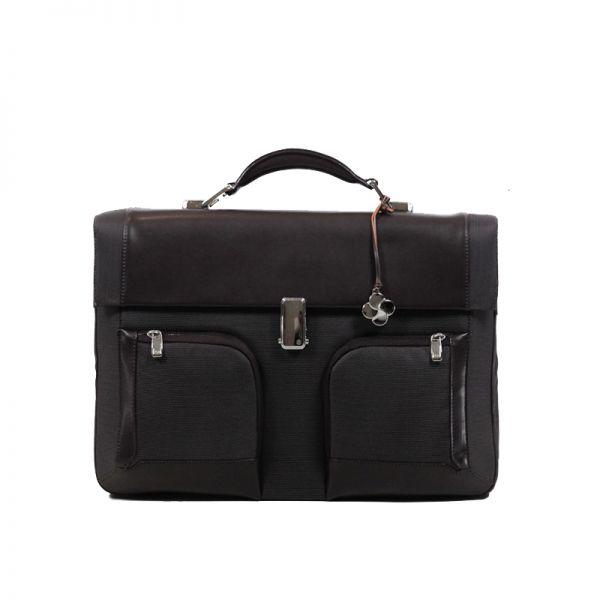 """Бизнес чанта с 3 прегради S-Teem за 16,4"""" лаптоп кафяв цвят"""