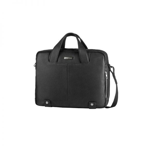 Черна бизнес чанта Corbus от висококачествена естествена телешка кожа