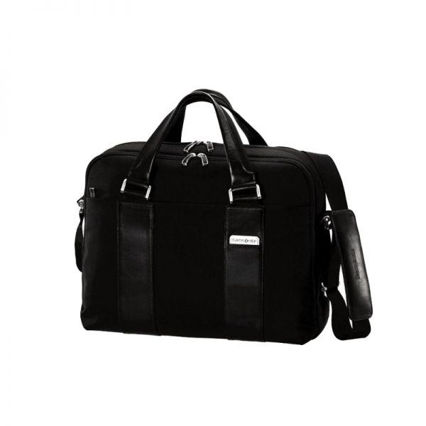 Компютърна бизнес чанта Orione от плат и естествена кожа, за 15.4 инча лаптоп