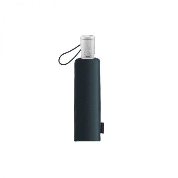 Тройно сгъваем плосък петролено зелен автоматичен чадър