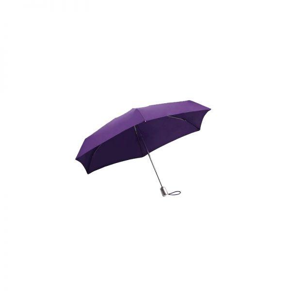Четворно сгъваем лилав автоматичен чадър