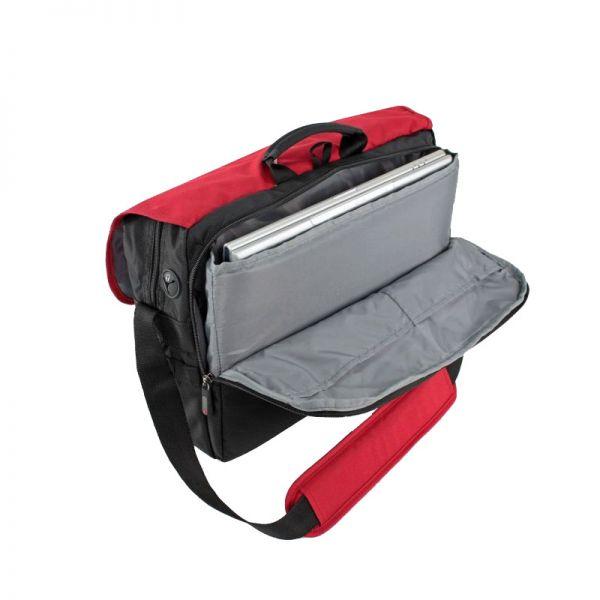 Червена чанта за рамо с отделение за 15.6 инча лаптоп Wander 3