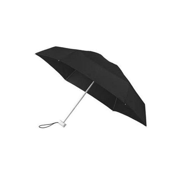 Петорно сгъваем черен ръчен мини-чадър Samsonite