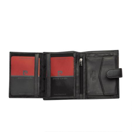Дамски портфейл PIERRE CARDIN - червен, вертикален, естествена кожа