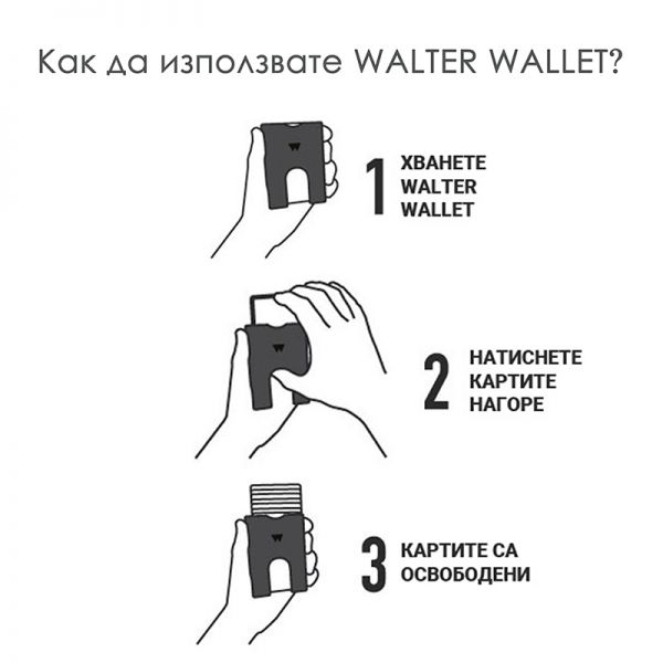 Портфейл WALTER WALLET, Way Black