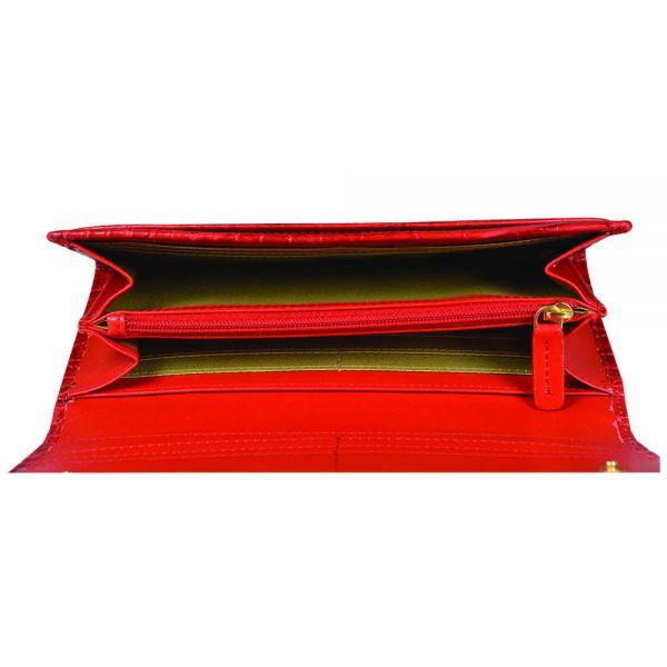 Дамски портфейл Cross, колекция Coco Zaragoza, червен