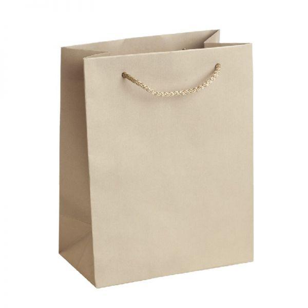 Подаръчна торбичка, златиста, размер М