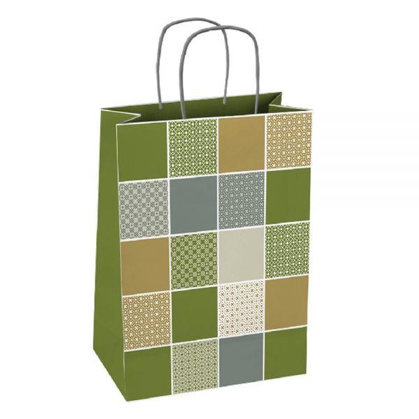 Подаръчна торбичка, квадрати, размер XL