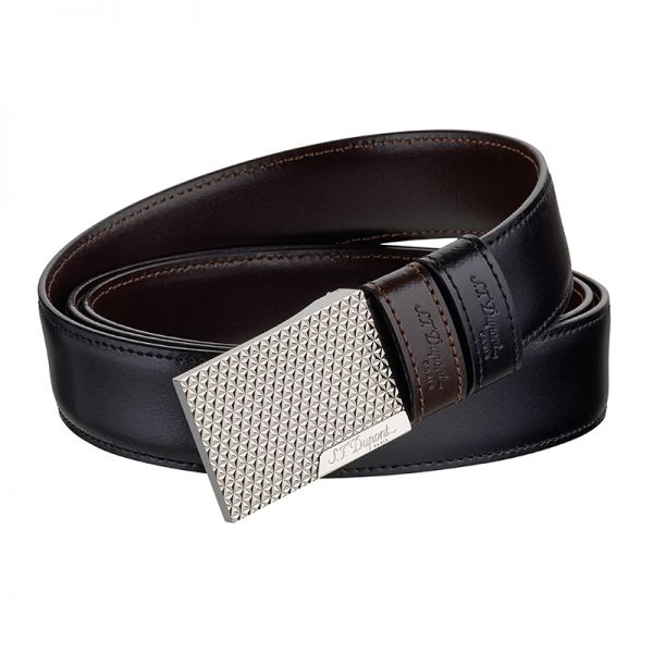 Мъжки колан Palladium and leather finish reversible Business belt