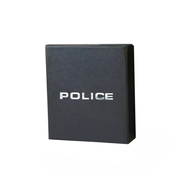 Мъжки колан Police Black Brushed Nickel
