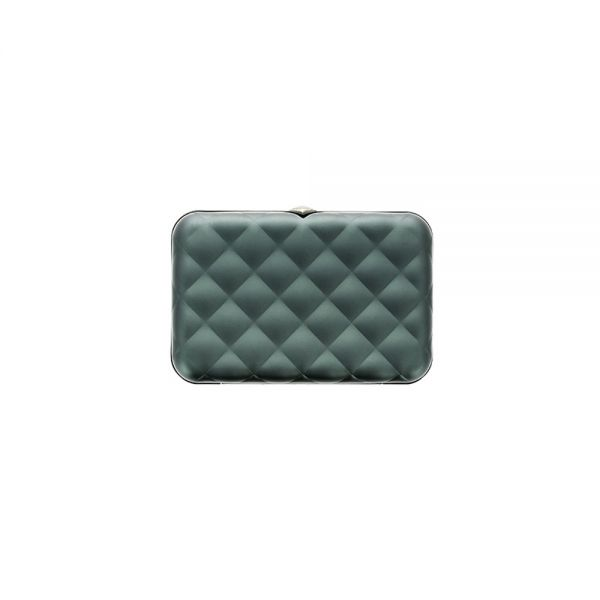 Дамски портфейл OGON Quilted Button, Сребрист