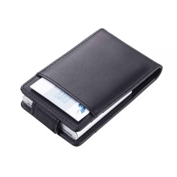Калъф за кредитни карти Troika-BLACK & SILVER