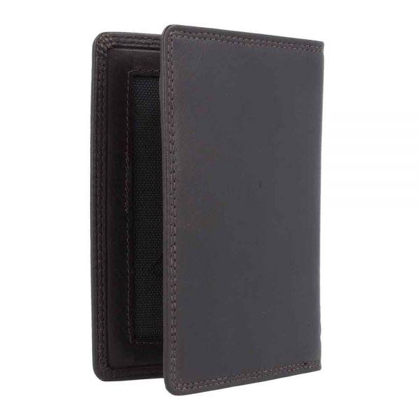 Кожен калъф за документи и кредитни карти Bugatti Simbiosi Trifold (3CC)