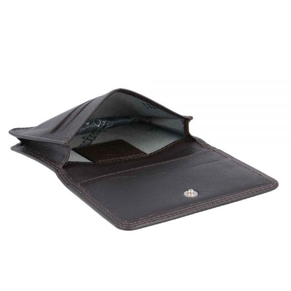 Кожен калъф за кредитни карти Bugatti Simbiosi Trifold (3CC)