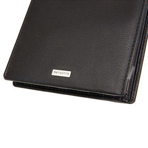 Мъжки портфейл Samsonite, черна естествена кожа