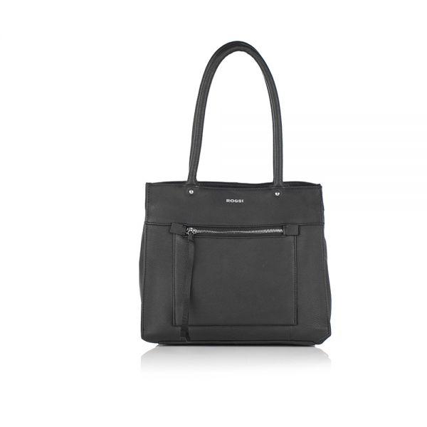 Черна дамска чанта ROSSI