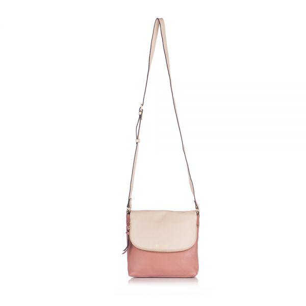 Розова дамска чанта ROSSI