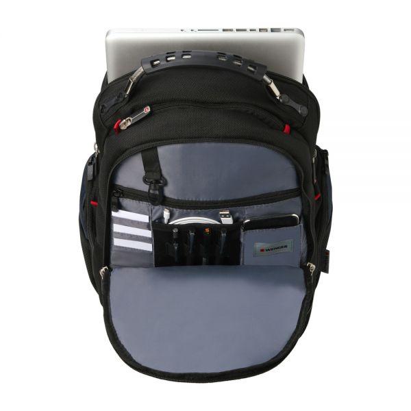 "Раница за 16"" лаптоп Wenger Synergy Black Balistic, 30 литра"