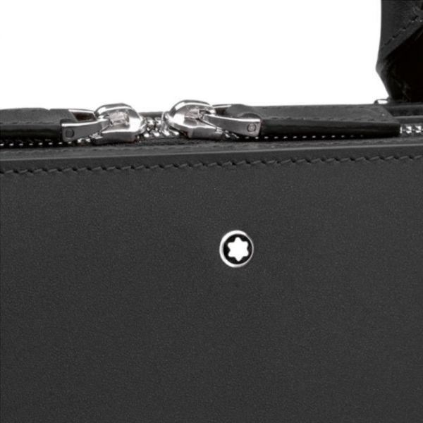 Куфарче Montblanc Meisterstück от естествена кожа, Черен