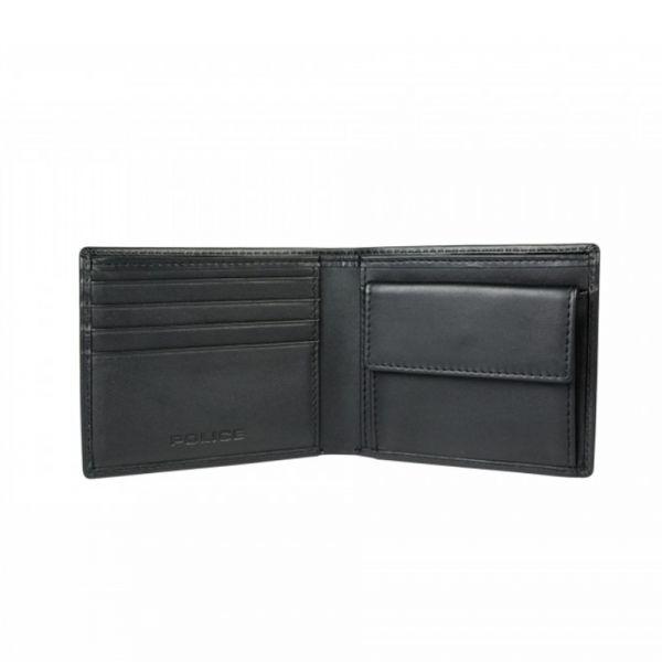 Мъжки портфейл Police Nest, с монетник, черен