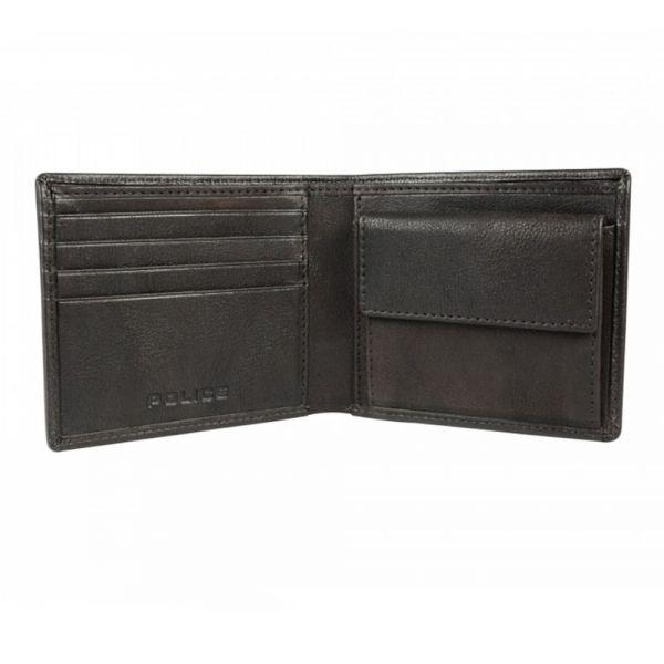 Мъжки портфейл Police Spike, с монетник, черен