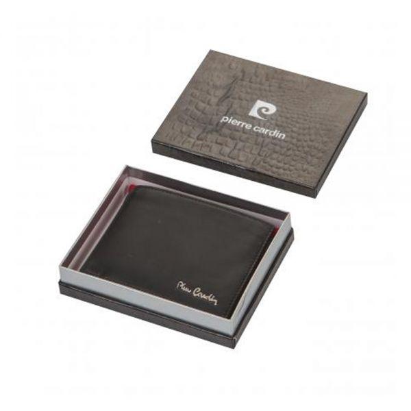 Мъжки черен портфейл Pierre Cardin, черен мат