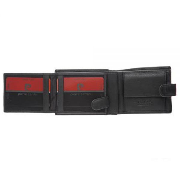 Мъжки портфейл Pierre Cardin, с хоризонтална червена черта