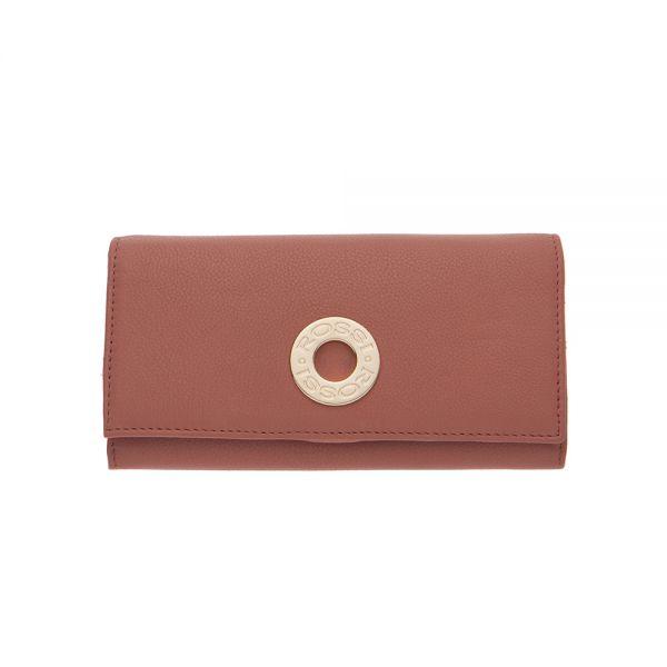Дамско портмоне ROSSI перлено розово