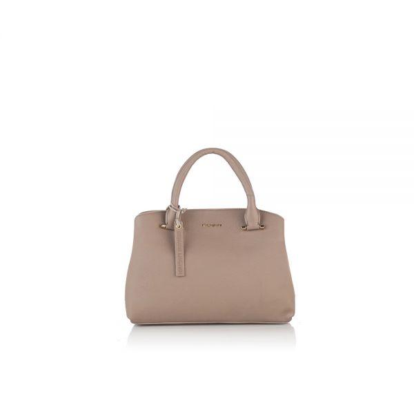Класическа дамска чанта ROSSI, в бледо розово