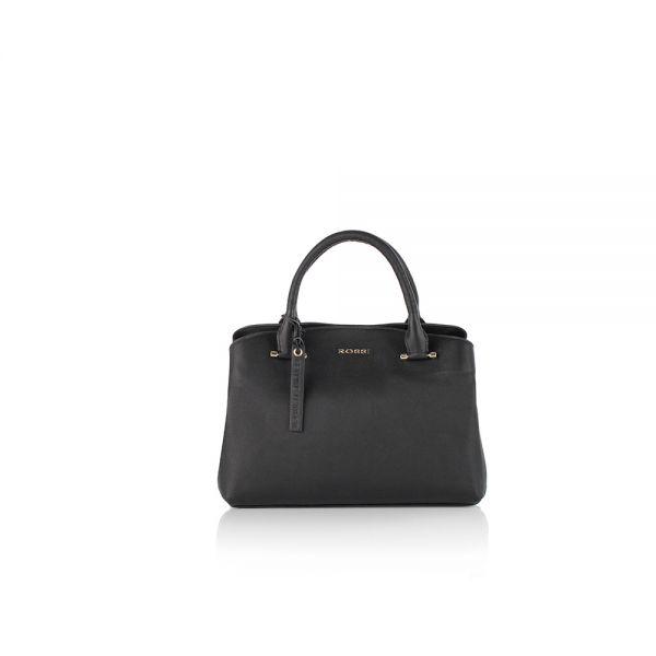 Класическа дамска чанта ROSSI, в бежово