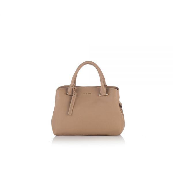 Класическа дамска чанта ROSSI, в розово