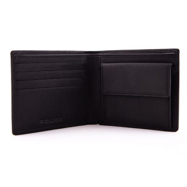 Мъжки портфейл и ключодържател Police Hot Shots, черен